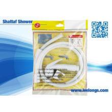 Home Basics Toilet White ABS Plastic Muslim Shattaf Bidet H