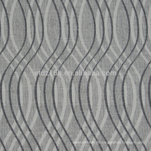 Neue Ankunft gekrümmte Form design100% Polyester-Leinen wie Jacquard-Vorhanggewebe