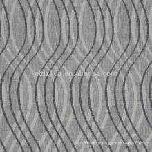 Nouvelle forme de forme incurvée 100% Linge de polyester comme tissu de rideau Jacquard