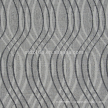 New arrival curved shape design100% Polyester Linen Like Jacquard Curtain fabric