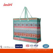 Wholesale Large Size Laminated Zipper pp woven Shopping Bag