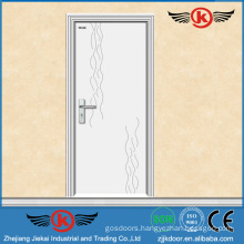 JK-P9012 white pvc laminate kitchen cabinet door/pvc flush door