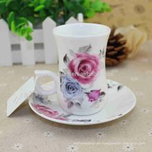 Control de calidad CE UE CIQ CEE FDA LFGB Certificados Porcelana esmaltada 16oz Red Cups