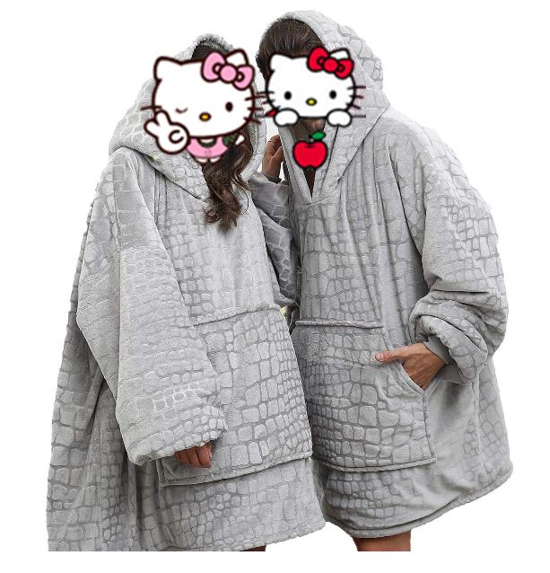 Oversized Sherpa Hoodie Sweatshirt Blanket