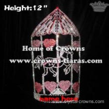 Wholesale Crystal Circus Tent Rhinestone Queen Crowns
