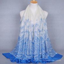 Горячие продажи новый дизайн женщин длинные однотонные кешью печати вуаль шаль хиджаб Индия