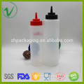 Food grade cylinder empty squeeze LDPE plastic container for sauces packaging
