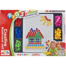 Champiñones educativos clavos insertados placa de juguete