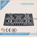 Luxury Tempered Glass Built in Enamel Gas Hob Gas Cooker