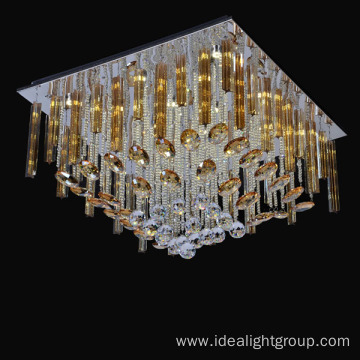 led ceiling square chandelier crystal light ceiling lamp