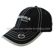 Contraste de puntos gruesos vinculante bordado deportivo de golf de gorra de béisbol (TMB00259-1)