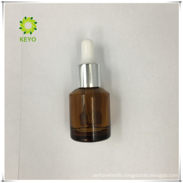 Cosmetic container empty beard oil 30ml frosted amber glass bottles for aluminium caps