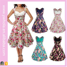 Hig Quality Women Summer Floral Vintage Dress