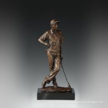 Deportes estatua estatua de ocio de golf de bronce Escultura TPE-839