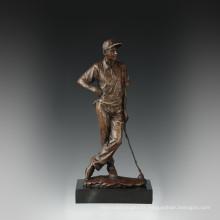 Sport Figure Statue Loisirs Golf Bronze Sculpture TPE-839