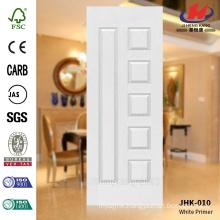 JHK-010 Saudi Arabia Manufacture Classical Popular Rut Model School Furniture MDF White Primer Door Skin