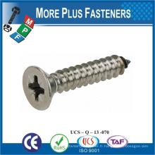 Taiwan Flat Head POZI Drive Self Tapping Screw Acier inoxydable Acier au carbone M10 Zinc Self Tapping Bolt