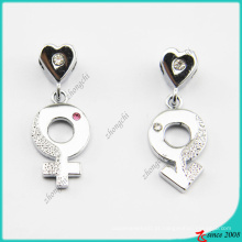 Pingente de colar de sinal de gênero feminino e masculino (PN)
