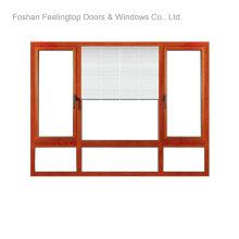 Fenêtre à battants en aluminium avec vitrage isolé (FT-W80)