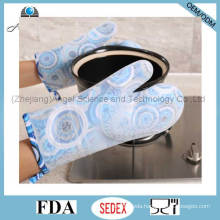 2016 Long and Thick Silicone Microwave Oven Glove with Heat Insulation Sg16