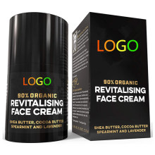 Custom Organic Vegan Revitalising Anti Aging Face Cream for Men
