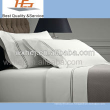 grupos da folha de cama do bordado da coleção da vida do hotel do polycotton