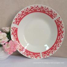 assiette à soupe ronde, assiette en porcelaine de linyi, bol à soupe