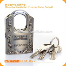 Top Security Zinc Alloy Shackle Half Protected Atomic Padlock