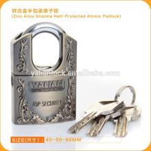 Top segurança zinco liga Shackle Half Protected Atomic cadeado