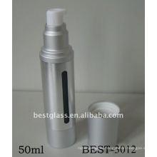Botella de loción de bomba sin aire de plata 50ml