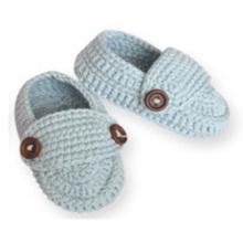 Handgemachte Häkelarbeit Säuglingsbaby-Mädchen-Flipflop-Hefterzufuhr-Socken-Schuhe