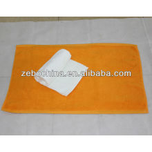 High quality custom logo available100 percent wholesale cotton hotel foot towel