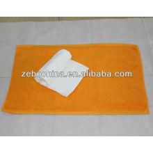 Alta qualidade personalizado logo available100 por cento por atacado algodão hotel pé toalha