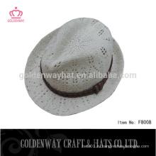 Вязаная женщина зима шляпа рука вязаная шляпа шляпа fedora для девочек