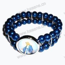 Hot Sale blue Pearl Beads Wrist Watch Fashion Bracelet
