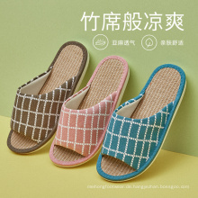 Sommer Leinen Sandalen Hausschuhe