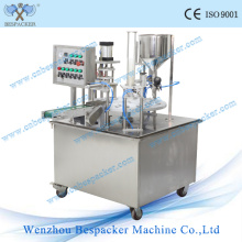 Automatic Yougurt Cup Plastic Liquid Filling and Sealing Machine with Ce