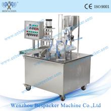 Tipo giratório máquina de enchimento giratória do copo do gelado automático