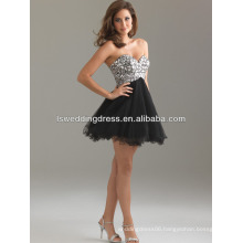 HC2061 Designer sexy sequins top with gathered tulle short dress sexy japanese prom dresses
