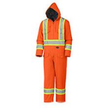 Combinaison de sécurité canard en coton matelassé orange flu