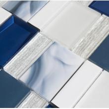 Carreaux de mosaïque en verre bleu pour la décoration de salon
