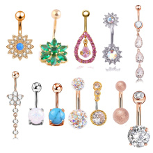 Right Grand Brand More Than 30 Style Stainless Steel Multi Color Belly Navel Ring Body Piercing Jewelry