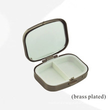 Brass Plated Rectangle Metal Box with 2 Units Insert (BOX-39)
