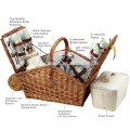 Side Folable Picknick-Rattan-Korb