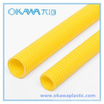 Tuyau ondulé à conduits en PVC pour câble de protection