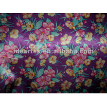 Satin Fabric Fake Silk Flora Printed for Dress and Sleepwear