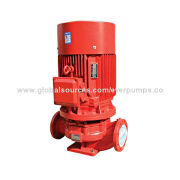 Vertical single-stage centrifugal fire pump, used in common water supply system for fire control