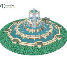 2018 haute qualité moderne jardin fontaine d'eau en marbre à vendre