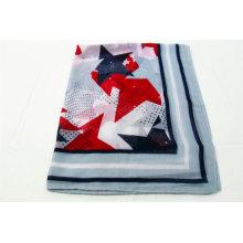 Popular geometric scarf border design print scarf women hijab scarves