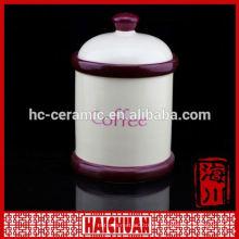 Super White porcelana cerâmica cosméticos Jars